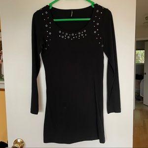 3/$30 Soyaconcept black mini dress size small